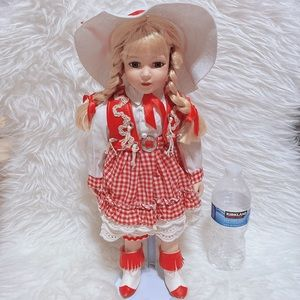 Royalton Cow Girl Large Porcelain Doll